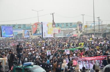 گستردهترین تظاهرات عدالت خواهی تاریخ افغانستان، به روایت عکس. عکاس: جواد کیا